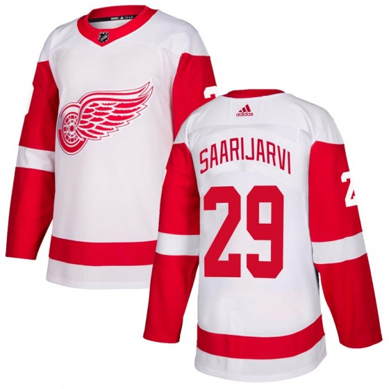 Authentic Adidas Youth Vili Saarijarvi Detroit Red Wings Jersey - White